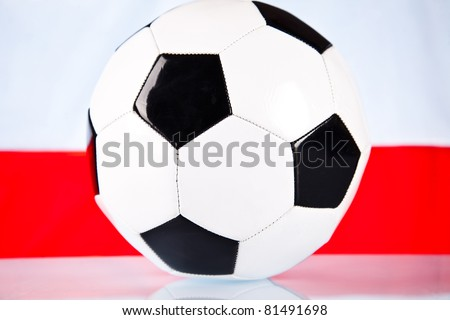 football and white red background