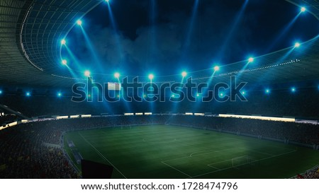 football arena and soccer stadium. 3d render