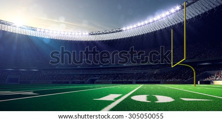 Football Arena Stadium Day render blue