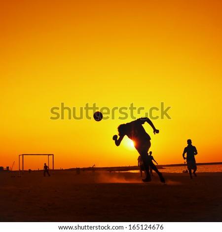 Sport - Beach Sunset Football