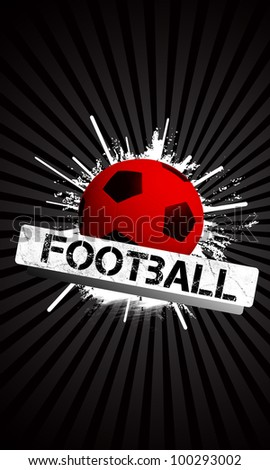 Football background with space (poster, web, leaflet, magazine)