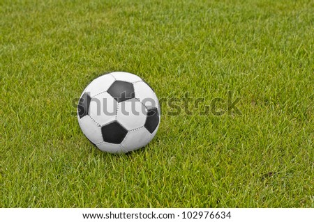 Football ball in grass with great colors
