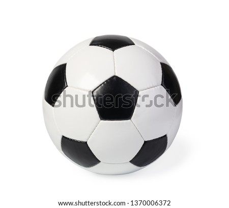 football ball, isolated on white #1370006372