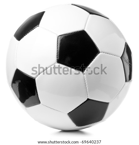 football ball isolated on white - stock photo