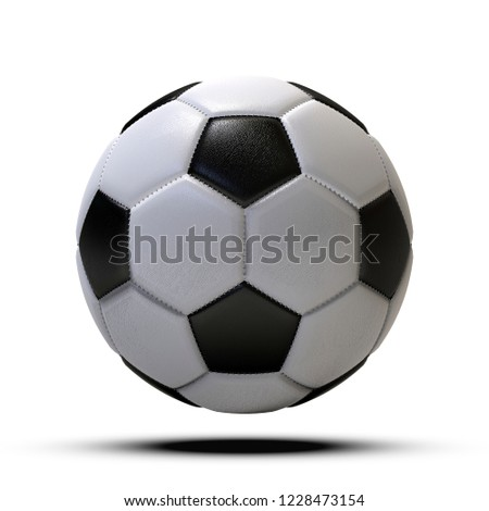 Football ball, isolated on white background. 3D Illustration