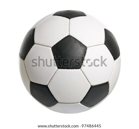 Football ball made of genuine leather