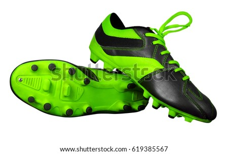 eec7e3272 Football boots isolated on white with Clipping Path  619385567