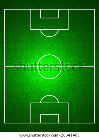 stock photo : football by a football pitch