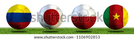 Football Cup competition Group H between the national Colombia, national Japan, national Poland and national Senegal. #1106902853