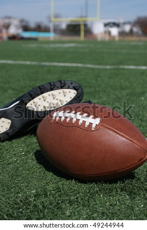 football equipment and field