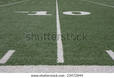 football field and yard lines