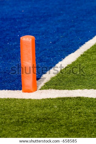 football field goal. stock photo : football field