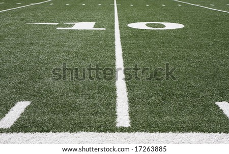 Football field grass and yard lines #17263885