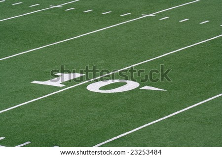 stock photo : Football field grass and yard lines