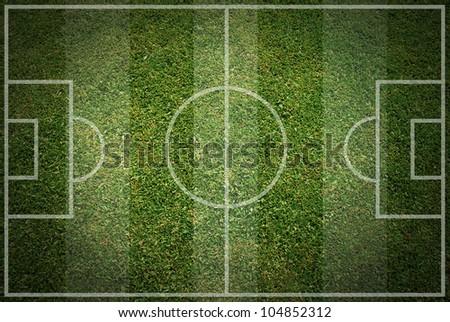 football field soccer ball green grass stadium background