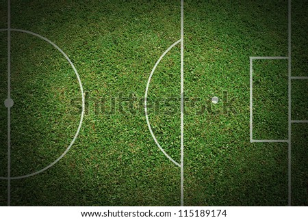 football field soccer ball green grass stadium background
