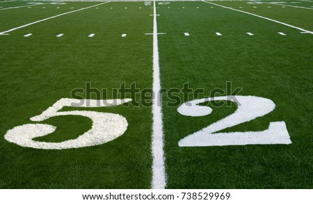 Football field symbolizing Super Bowl 52 in 2018 #738529969