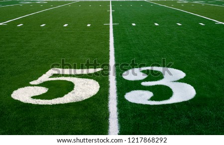Football field symbolizing the big game in 2019 #1217868292