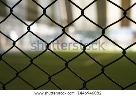 Football field wire mesh. Wire mesh background. #1446946082