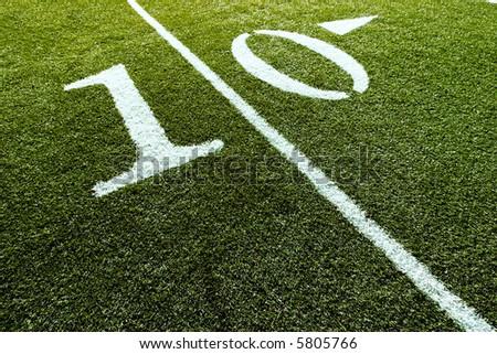 Football Field with 10-Yard Mark