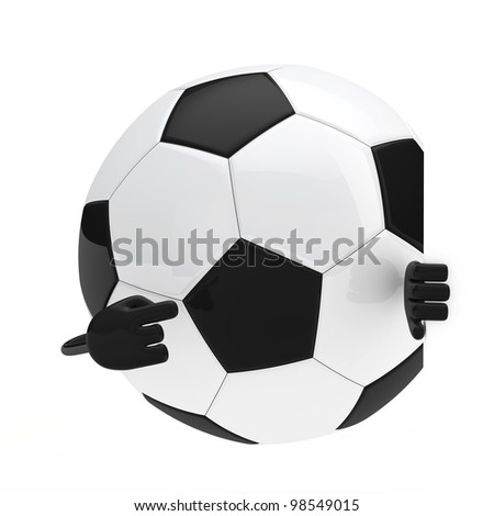 football figure shows with finger behind wall