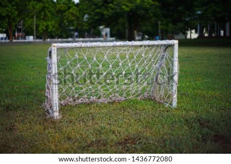 Football goal or Soccer goal  #1436772080