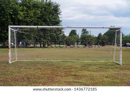 Football goal or Soccer goal  #1436772185