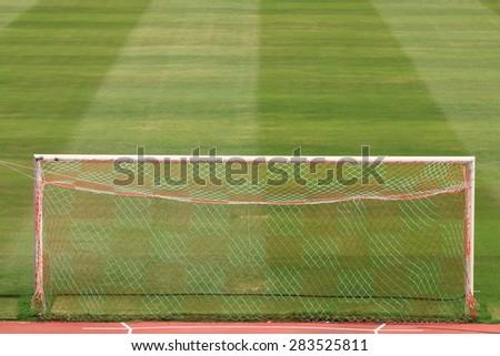 Football goal/Soccer goal in football field
