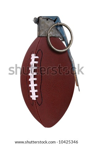 Football grenade isolated over a white background - stock photo