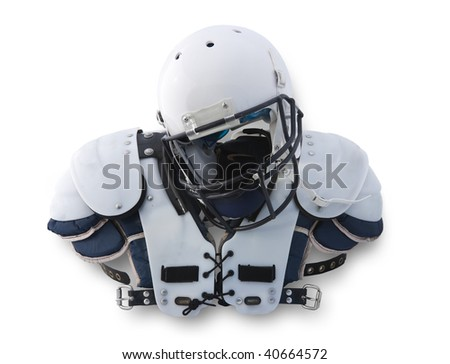 Football Helmet and shoulder Pads (with clipping path)