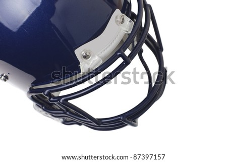 Football helmet, isolated on white, copy space
