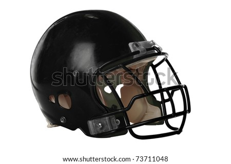 Football helmet isolated over white background - With Clipping Path