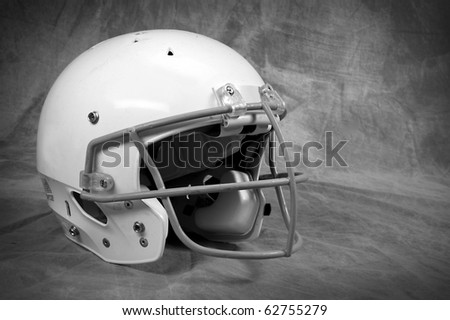 Football helmet on studio background with copy space