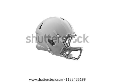 Football Helmet Side View
