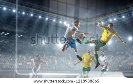 Football hottest moments. Mixed media #1218938665