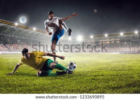 Football hottest moments. Mixed media #1233690895