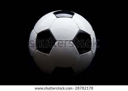 Football in black background