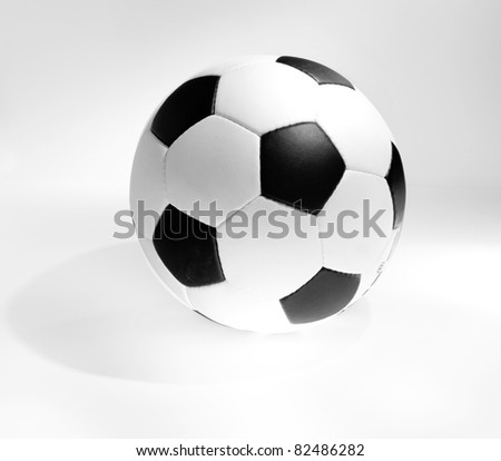 Football isolated on a white