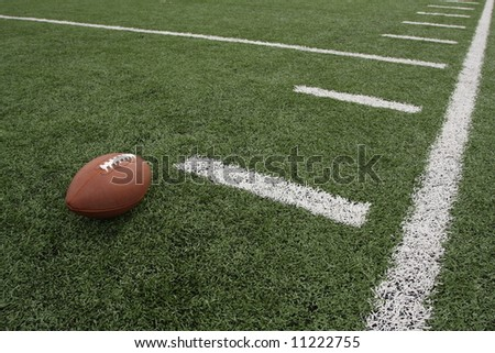 Football near the hashmarks