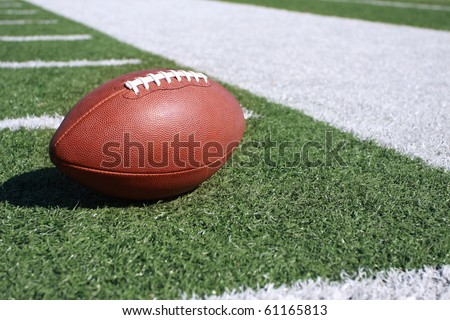 Football on the sideline