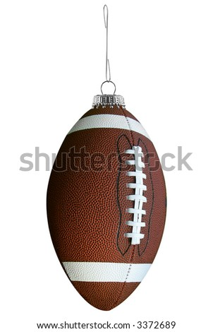 Football ornament isolated over a white background
