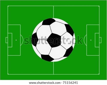 football pitch with ball  illustration