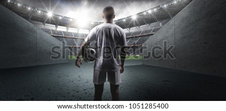 Football player in the stadium #1051285400