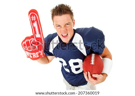 stock photo: football player with ball