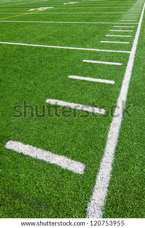 Football side lines - yards