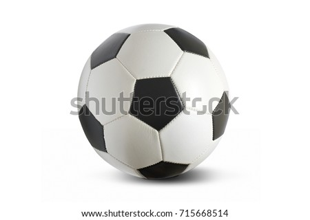 Football soccer ball isolated on a white background. #715668514
