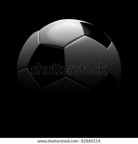 Football, soccer ball silhouette