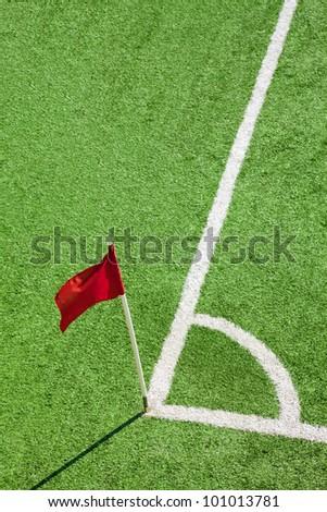 Football-Soccer corner flag