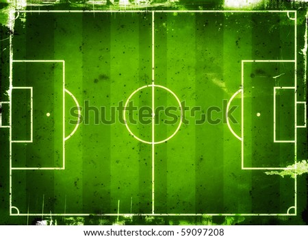 Football (Soccer Field) illustration with  space for your text