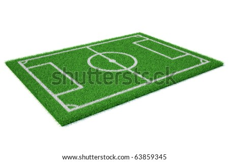 Football (soccer ) field - this is a 3d render illustration